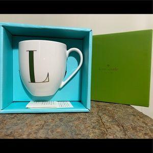 "Kate spade mug personalized ""L"""